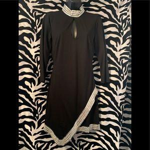 🆕 black embellished BEBE dress 🆕